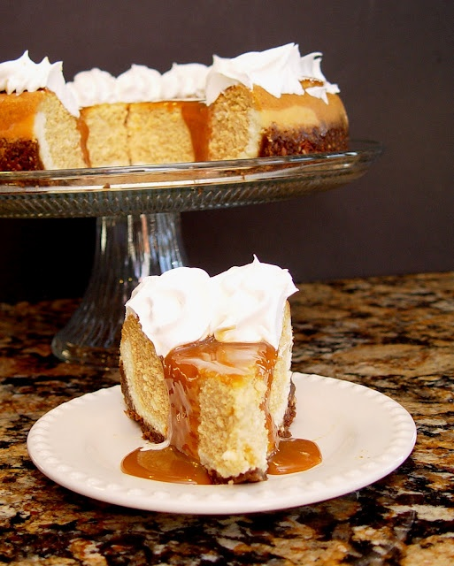 Pumpkin Cheesecake with Caramel Topping | Yummy | Pinterest