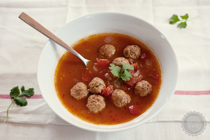 Mexican Meatball Soup. | Soups | Pinterest