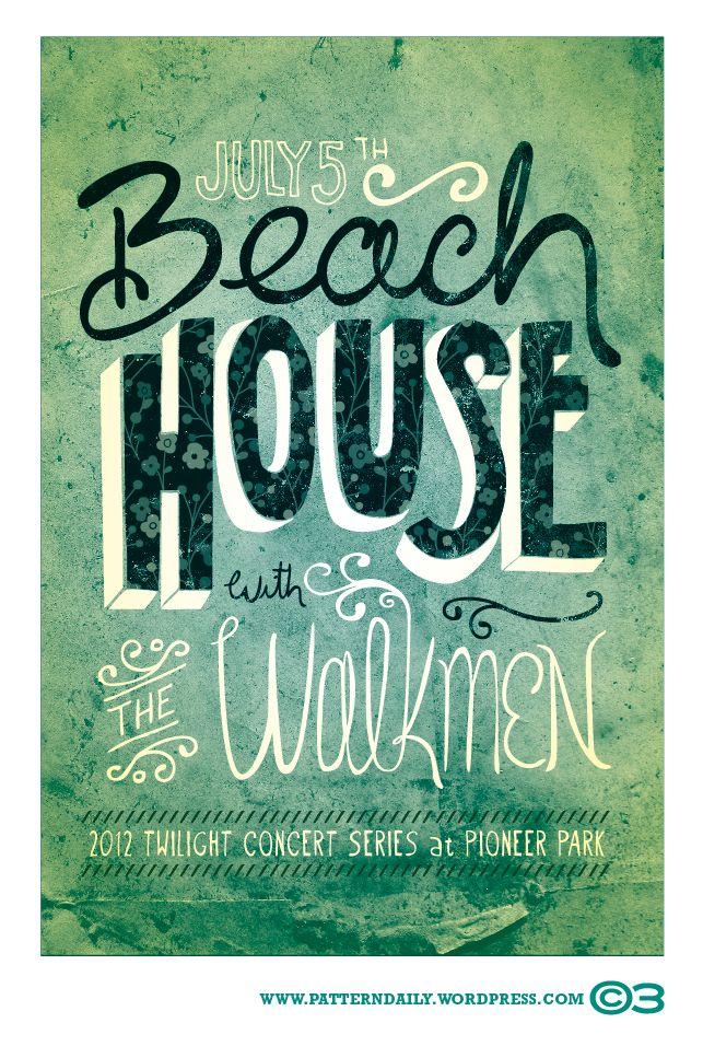 Beach House With The Walkmen | PatternDaily