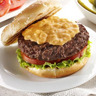 RED WHITE AND BLUE BURGER TOPPER | BURGERS & SANDWICHES | Pinterest