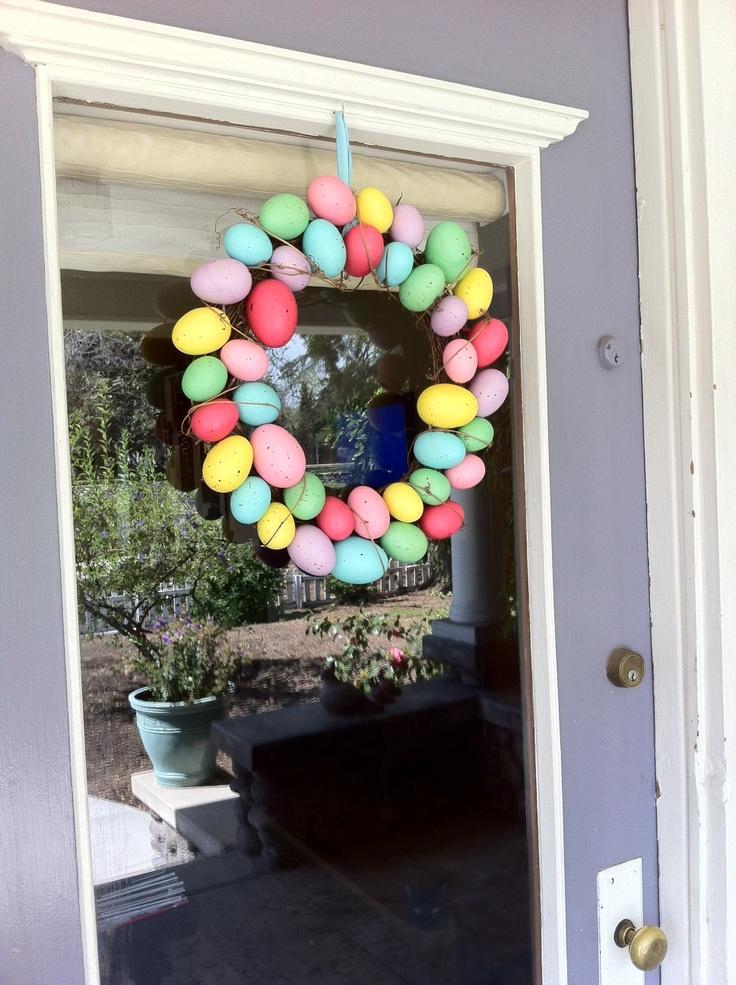 front door easter wreath easter pinterest