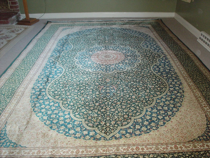Superb top quality Persian Oriental rug Quom  pure silk by vmroub, $12,345.00