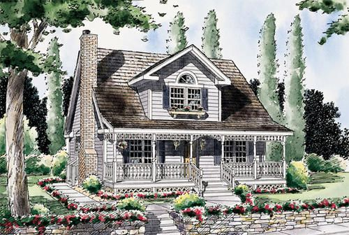 G24706 dormer over porch homes pinterest for Houses with dormers and front porch