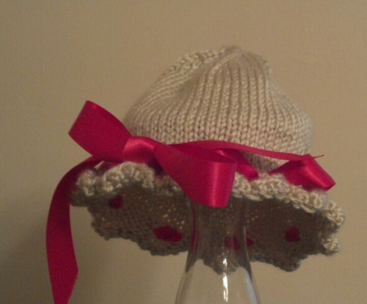 Hand knit baby hat Sewing & knitting & crochet Pinterest