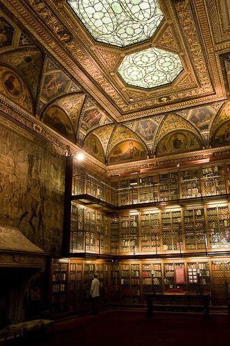 Three story library built for J.P. Morgan.