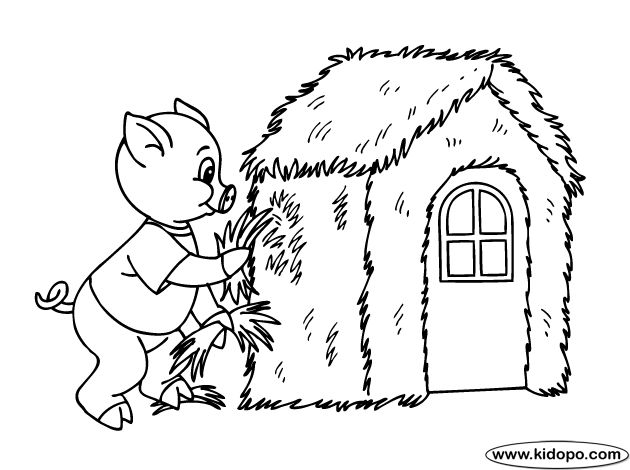 disney three little pigs coloring pages