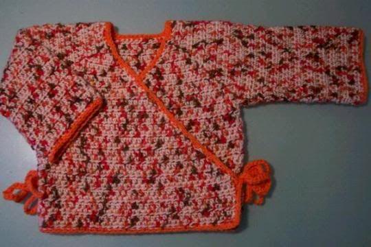 Free Crochet Pattern For Kimono : Baby kimono wrap - Media - Crochet Me Baby Pinterest