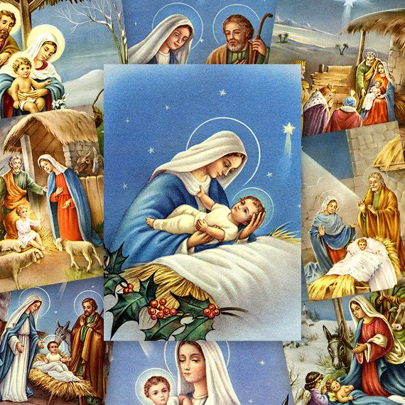 Christian Nativity ATC ACEO cards Digital by VoyageExtraordinaire, $3 ...