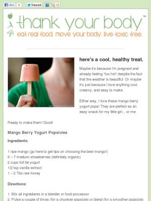 Mango Berry Yogurt popsicles | Yummy Food | Pinterest