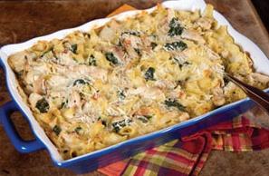Fried Chicken Florentine Casserole | Food | Pinterest