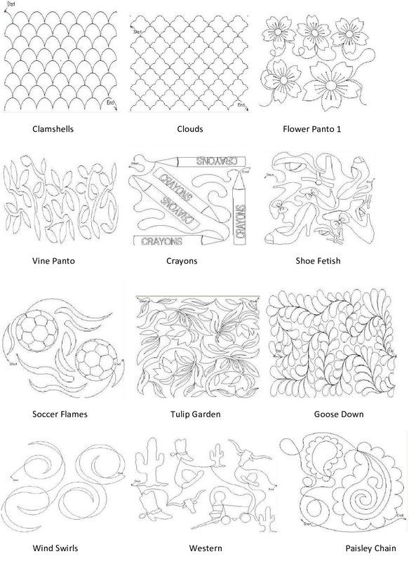 Quilting Long Arm Patterns Free : Longarm Quilting Pattern Book