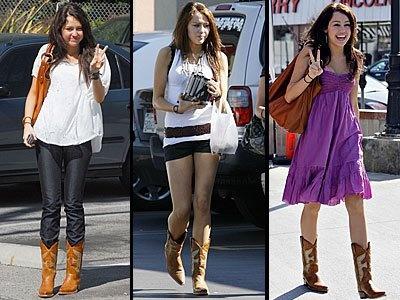 Miley in true cowgirl fashion