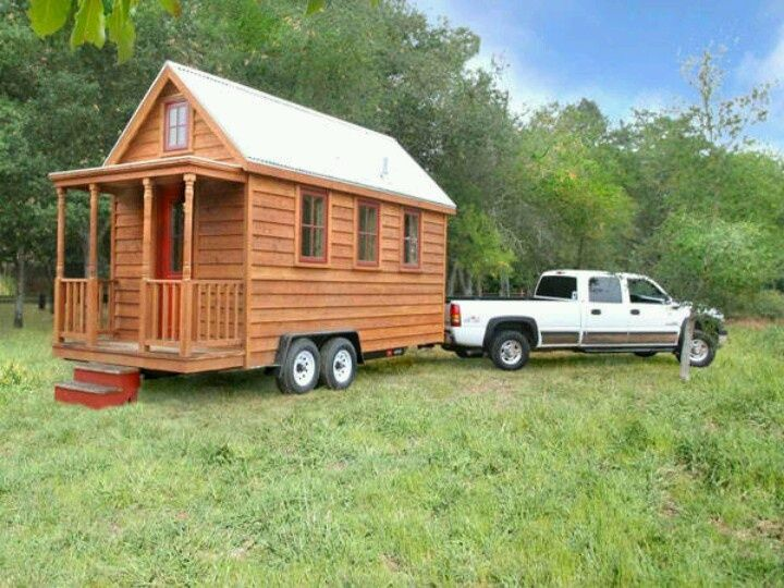 Small cabins on wheels home on wheels products i love for Small portable homes