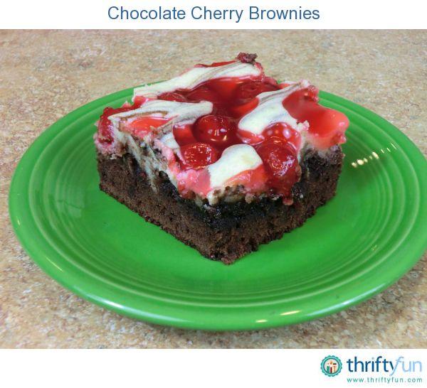 Chocolate Cherry Brownies | Brownies | Pinterest
