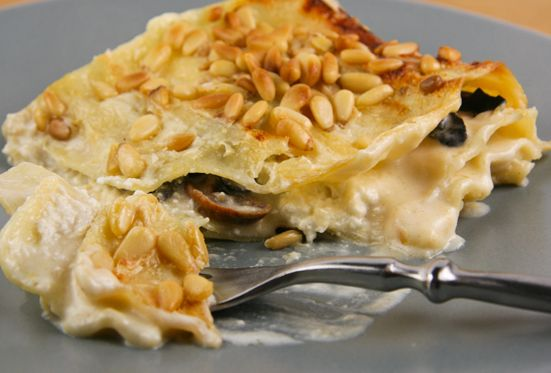 ... sounds so yummy! Dungeness Crab, Wild Mushroom, and Pine Nut Lasagne
