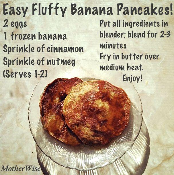Easy fluffy banana pancakes | Nourishing Breakfasts | Pinterest