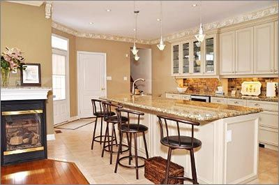 Back gallery for kitchen backsplash ideas with off white for Earth tone kitchen ideas