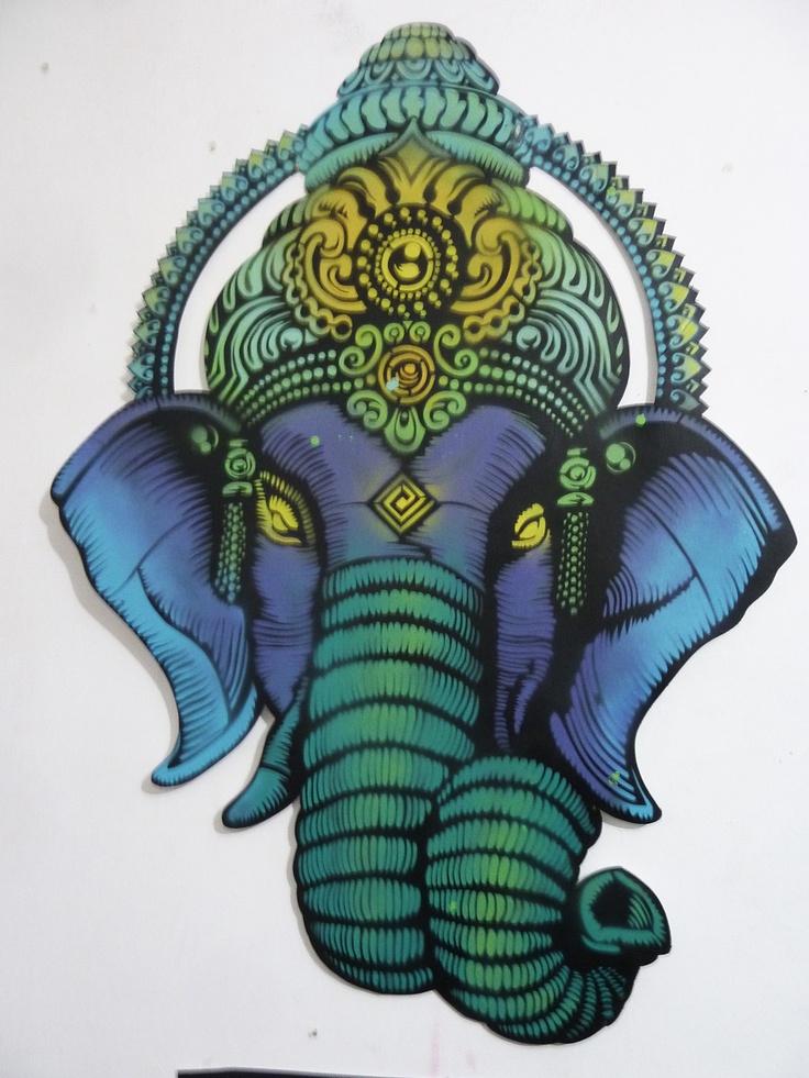 Stencil Art Ganesha Pictures