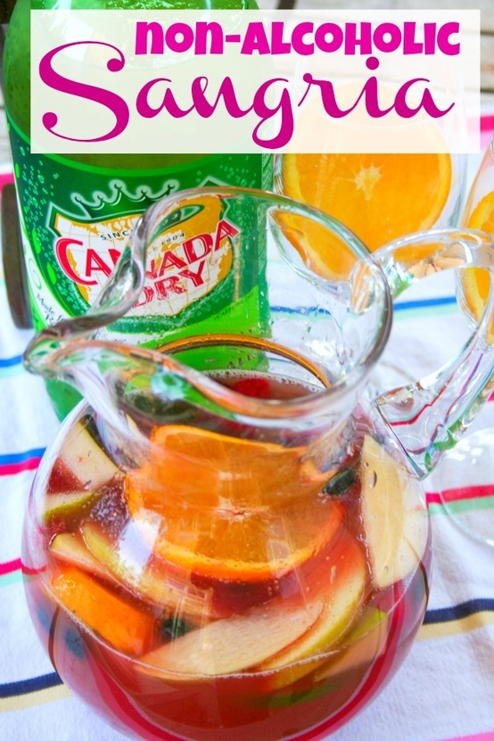 Non-Alcoholic Sangria Punch | Delicious Food and Drink | Pinterest