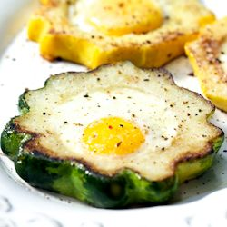 Eggs in Squash Rings for Summer | First Impressions (recipes for brea ...