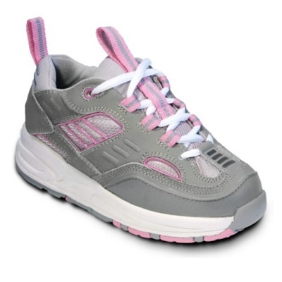Keeping Pace Gray/Pink Orthopedic Athletic Shoe