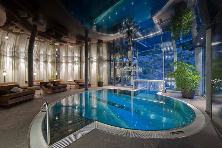 Indoor Glass Pool House Beautiful Pinterest