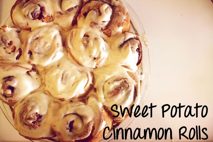 Sweet Potato Cinnamon Rolls with Maple Glaze from a great vegetarian ...