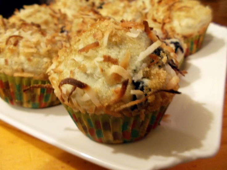 Blueberry Coconut Muffins | For Nana | Pinterest