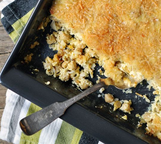 Chickpea Casserole with Lemon, Herbs & Shallots, eggs, parmesan ...