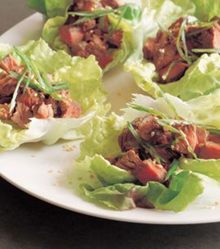 Lettuce Tacos with Grilled Sesame Beef | food | Pinterest