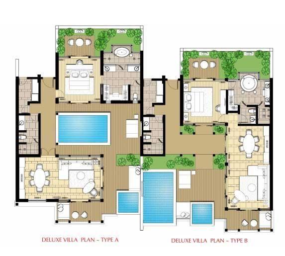 Plan Villa De Luxe  Floorplan banyan tree china Pinterest