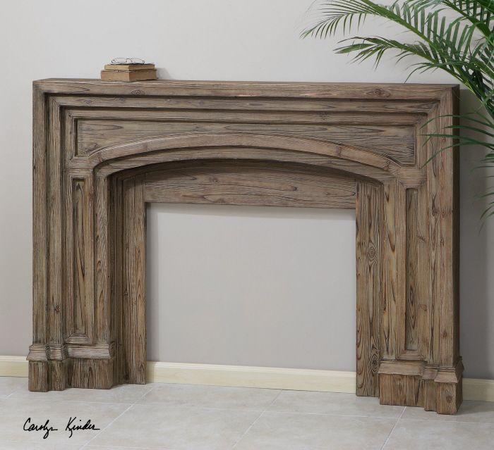 Avrigo Rustic Fireplace Mantel