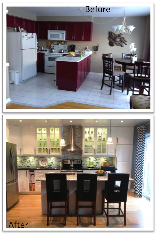 Ikea kitchen remodel before after kitchen remodel pinterest - Kitchen remodel before after ...