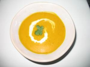 Coconut curry squash soup--use full fat coconut milk and prickly pear