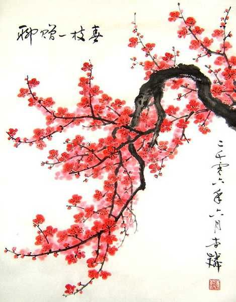 asian paintings of flowers - Google Search