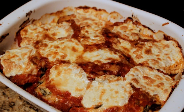eggplant parmesan, lightened up | Food | Pinterest
