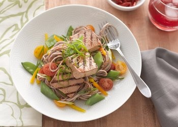 Cold soba noodles and hot, grilled tofu make a quick and delicious ...