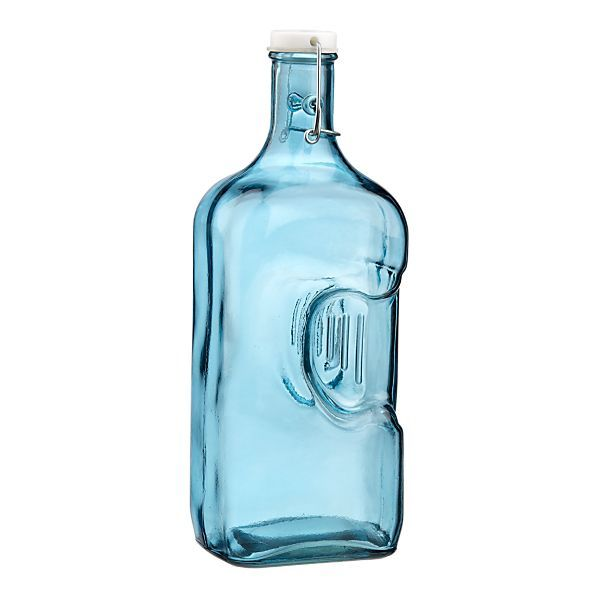 Recycled Blue Glass Jug Blue