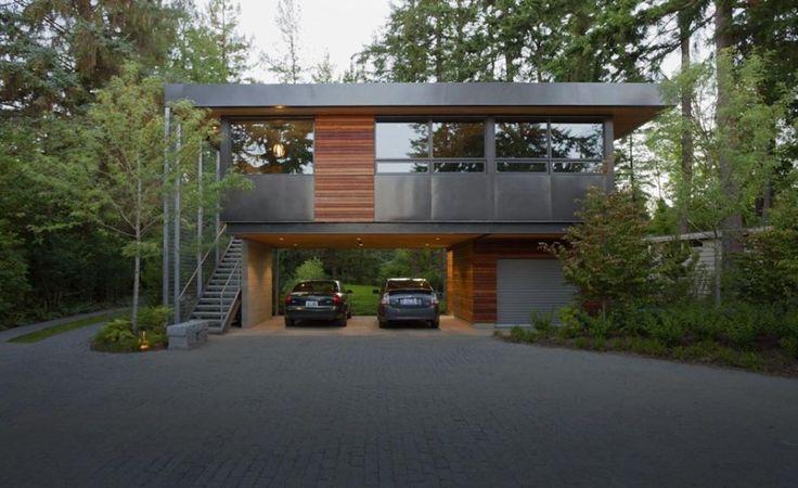 ellis residence modern garage modern house pinterest. Black Bedroom Furniture Sets. Home Design Ideas