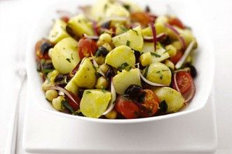 Greek potato salad with lemon dressing recipe - Recipes - goodtoknow