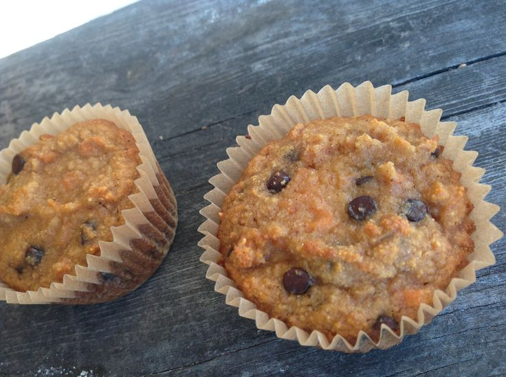 Coconut Flour Chocolate Chip Carrot Muffins #TheCafeWellness
