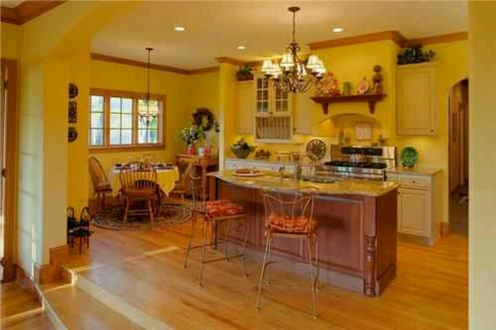 yellow country kitchen home needs improvement pinterest
