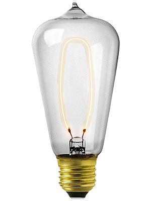 antique reproduction early edison light bulb 40 watt. Black Bedroom Furniture Sets. Home Design Ideas