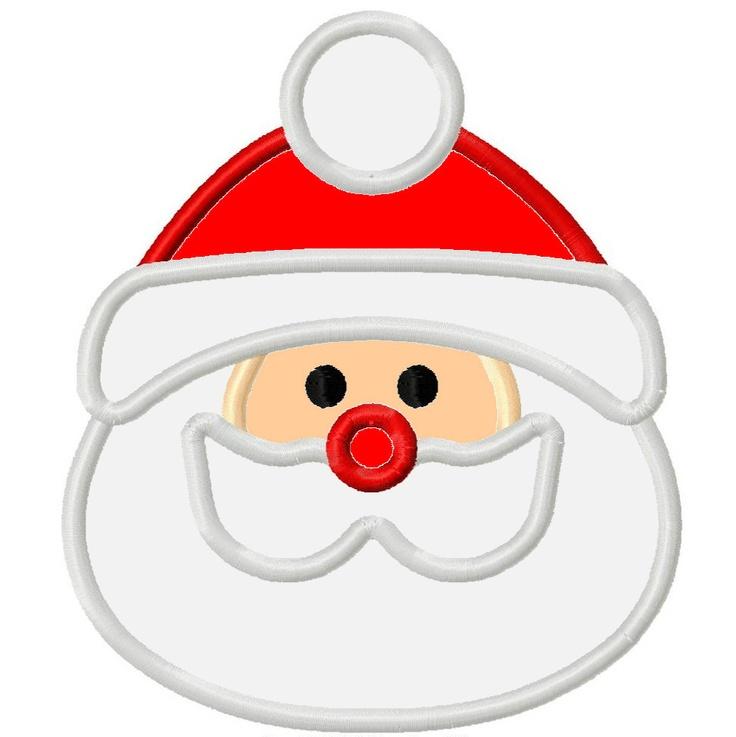 Santa applique appliques i love pinterest