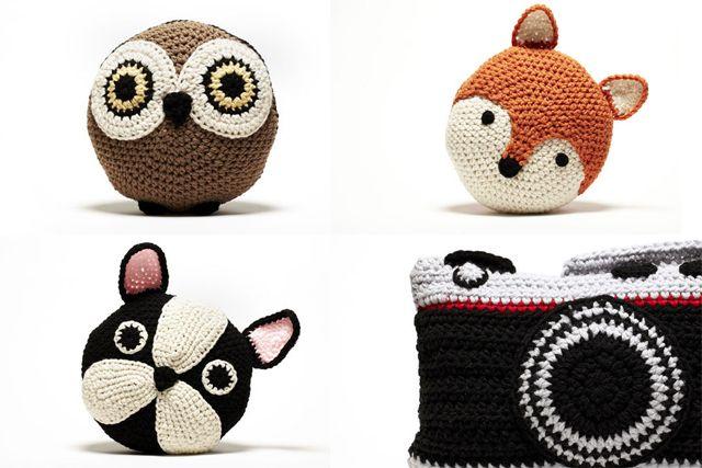 Cojines de animales de crochet crochet pinterest - Cojin de crochet ...