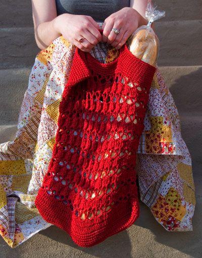 Crochet String Bag Pattern : Provence Summer String BagProvence Summer String Bag from CEY Web ...