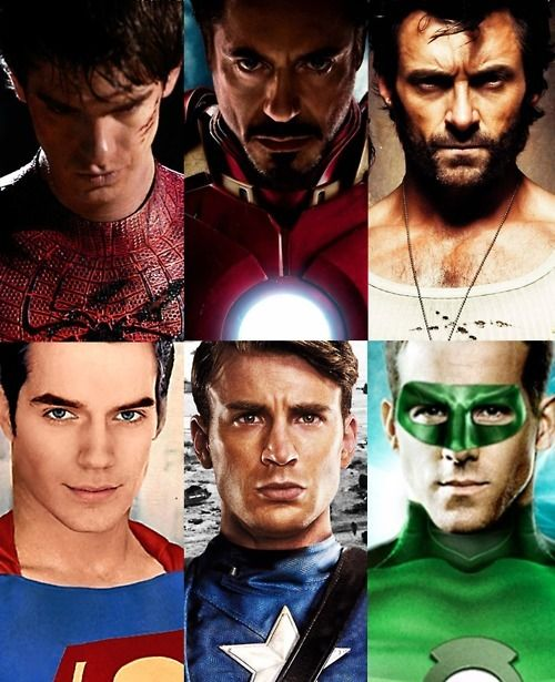 #andrew garfield #robert downey jr #hugh jackman #henry cavill #chris evans #ryan reynolds