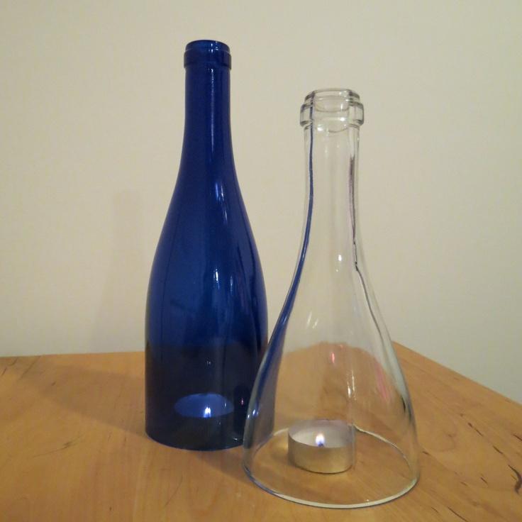 Wine Bottle Candle Holder Full Plate No Fork Pinterest