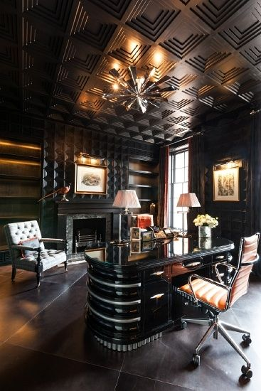 Luxury office beautiful homes estates pinterest for Luxurious office interiors
