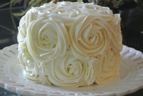 Cake Decoration With Rose : Cake Decorating 101: Rose Cake Desserts Pinterest